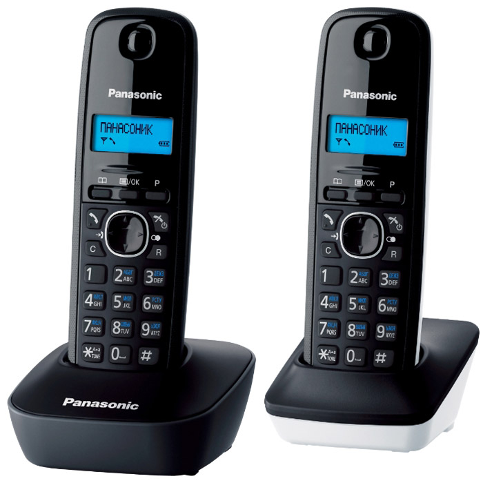 Panasonic KX-TG1612 RU1KX-TG1612 RU1DECT телефон Panasonic KX-TG1612 с дополнительной трубкой.