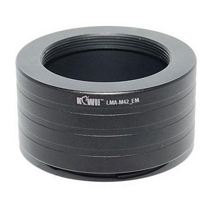 JJC переходное кольцо Kiwifotos LMA-M42_EM (M42-Sony E-Mount NEX)JJCM42NEXПереходное кольцо Kiwifotos LMA-SM_EM изготовлено из черного анодированного алюминия, позволяет к объективам M42 (Zeiss, Pentax, Praktica, Mamiya и Зенит) крепить линзы, которые будут использоваться на любой Sony E-Mount камере (Sony NEX3/NEX5).