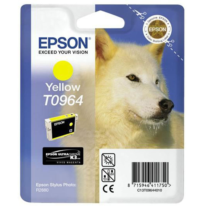 Epson C13T09644010 YellowIC-H6657Картридж Epson с цветными чернилами для струйной печати.