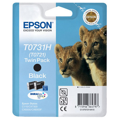 Epson C13T10414A10 Black Twin PackTN3380Набор из двух картриджей Epson повышенной емкости с черными чернилами.