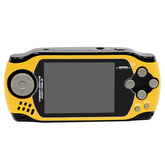 Портативная игровая приставка MegaDrive Portable Arcada (желтая)VG-1629Игровая портативная приставка Mega Drive Portable Arcada со встроенным набором видеоигр не даст заскучать в дороге и дома, и доставит немало радости и удовольствия от прохождения самых интересных игр различных жанров, специально подобранных для всех категорий игроков. Аркадные стрелялки, казуальные головоломки, бродилки по мотивам популярных мультиков, гонки и спортивные симуляторы, логические игры - здесь есть все чтобы превратить Ваш досуг в увлекательное путешествие по миру виртуальной реальности! Приставка обладает большим экраном и возможностью подключения к телевизору!Отличный набор из 105 современных предустановленных игр разнообразных жанров доставит удовольствие и ребенку, и взрослому.