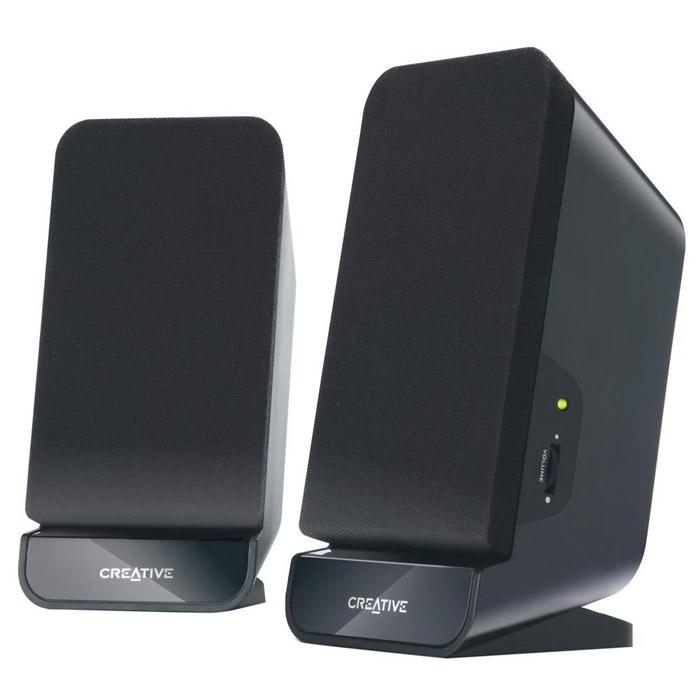 Creative A60M100 BlackКомпактные и элегантные колонки Creative A60 обеспечивают качественное и надежное воспроизведение звука с MP3-плеера, ноутбука или ПК. Благодаря внешнему виду и размеру их можно разместить в любом месте – в офисе или дома. Кроме того, эта акустическая система с магнитным экранированием и двумя 2,75-дюймовыми высококачественными динамиками не вызывает помех на телевизоре или мониторе и при этом гарантирует качественный звук для любого прослушивания. Встроенный басовый порт помогает обогатить звучание басов и сделать звук более напряженным!Акустическая система формата 2.0 разработана для высококачественного воспроизведения звука с любого устройства – ПК, ноутбука или MP3-плеера.Встроенный басовый порт для получения глубоких и насыщенных басов при прослушивании.Элегантный и компактный корпус позволит установить колонки в любом доме или офисе, больше не нужно беспокоиться о том, что они загромоздят рабочий стол.Центральный регулятор позволяет с легкостью настроить громкость и выключить колонки.Динамики с магнитным экранированием не создают помех для телевизора или монитора. Их можно разместить в любом удобном месте.