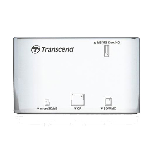 Transcend Multi-Card P8, USB 2.0, White - Картридеры