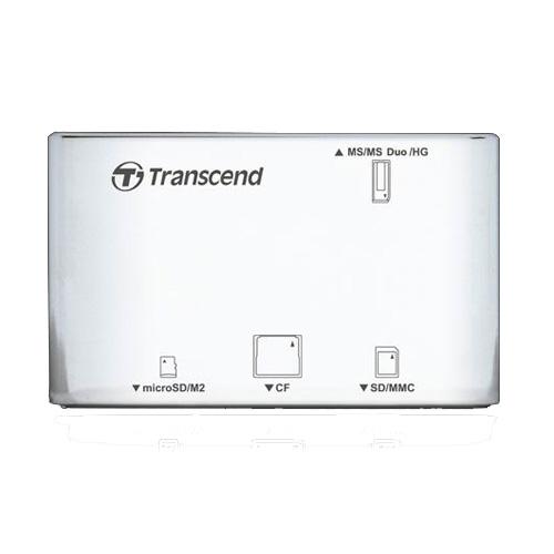 Transcend Multi-Card P8, USB 2.0, WhiteCD123204Универсальное устройство чтения карт памяти Transcend Multi-Card P8 в компактном стильном корпусе со сглаженными углами.