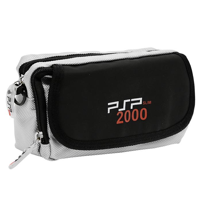 Многофункциональная cумка для приставки PSP/PSP 2000 и аксессуаров (серая)