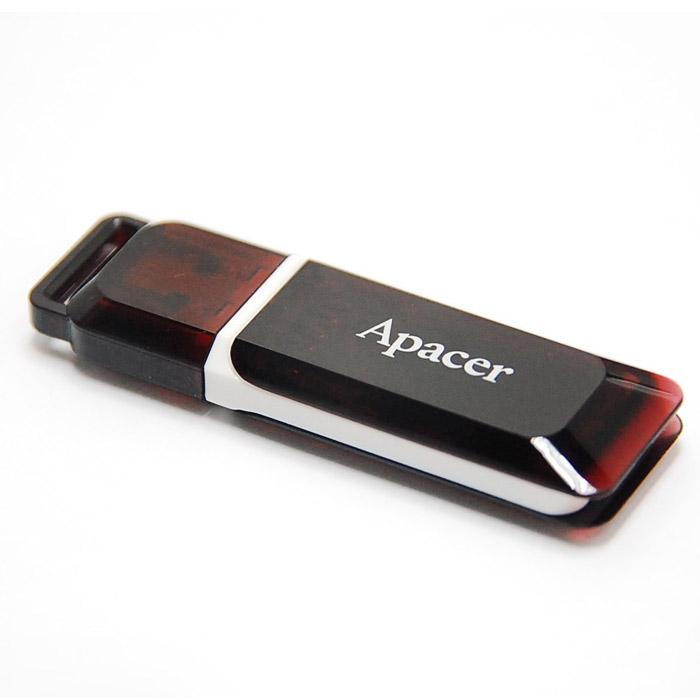 Apacer AH 321 16GB, Wine Red (AP16GAH321R-1)AP16GAH321R-1Корпус USB-накопителя Apacer AH321 сделан из прозрачного карминно-красного пластика с белой полоской, проходящей между корпусом и колпачком и вдоль боковых сторон. AH321 оборудован специальной системой для крепления колпачка - с помощью скобки он фиксируется между двумя выступающими пластинками на устройстве. Это очень удобно и минимизирует вероятность потери защитного колпачка. За эту же скобку устройство можно прикрепить к шнурку, чтобы накопитель всегда был под рукой.Как и все продукты компании Apacer серии HandySteno (USB накопители), накопитель поддерживает специальную программу-архиватор Apacer Compression Explorer (ACE). Занимая всего 1 Мб памяти накопителя, ACE может сжимать размеры файлов в 5 раз и защищать данные с помощью пароля.