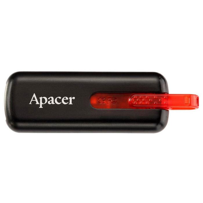 Apacer AH 326 32GB, Black (AP32GAH326B-1)AP32GAH326B-1USB-накопитель Apacer AH326 может похвастаться ярким дизайном благодаря инновационному выдвижному USB-коннектору в форме буквы «U». АН326 имеет отполированную и приятную на ощупь поверхность.Как и все продукты компании Apacer серии HandySteno (USB накопители), накопитель поддерживает специальную программу-архиватор Apacer Compression Explorer (ACE). Занимая всего 1 Мб памяти накопителя, ACE может сжимать размеры файлов в 5 раз и защищать данные с помощью пароля.