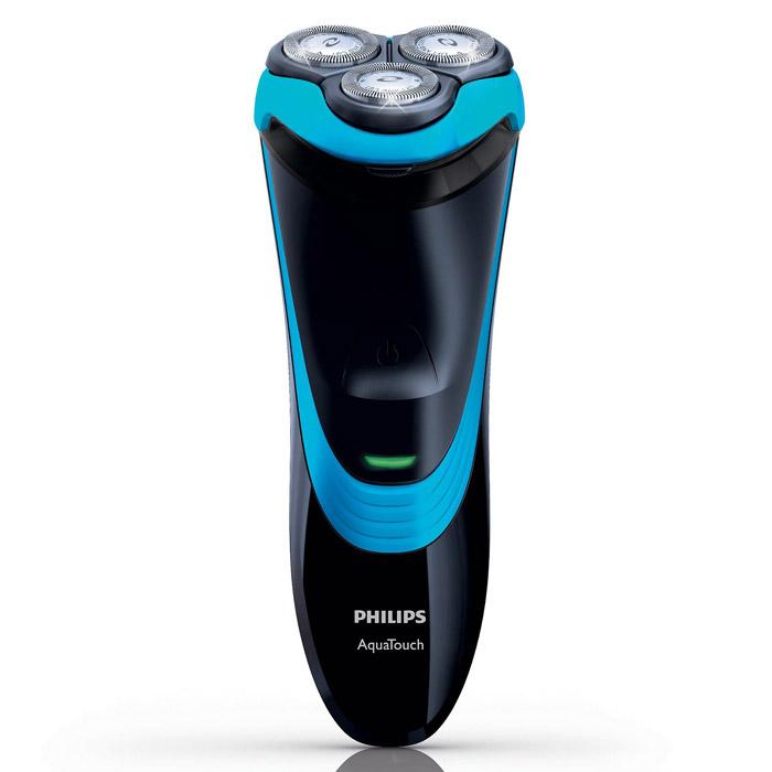 Philips AquaTouch AT750/16электробритваAT750/16Электробритва Philips AT 750/16 для сухого и влажного бритья с функцией Aquatec Wet & Dry.Aquatec для сухого и влажного бритьяУплотнение Aquatec гарантирует комфортное сухое бритье и освежающее влажное бритье. Отлично подходит для использования с гелем или пеной для бритья, что обеспечивает дополнительный комфорт даже при использовании в душе.Система защиты кожиЗакругленные головки с низким коэффициентом трения повторяют контуры лица, снижая вероятность порезов.Система Super Lift&CutСистема двойных лезвий электробритвы приподнимает волоски для комфортного сбривания щетины, обеспечивая чистое бритье.Полностью водонепроницаемаяСистема QuickRinse позволяет промывать бритву под струей воды и использовать в душеБолее 40 минут автономной работыБолее 40 минут в режиме автономной работы для 14 сеансов бритья. Полная зарядка занимает 8 часов, поэтому бритва готова к использованию в любое время.