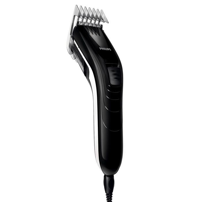 Philips QC 5115/15 машинка для стрижкиQC5115/15С помощью машинки для стрижки волос Philips QC 5115/15 создать ровную стрижку очень легко. Настройки длины на гребне позволяют подстричь волосы до нужной длины без необходимости смены гребней. Не требует специального ухода и смазки.Закругленные лезвия и гребни10 настроек длины волос позволяют регулировать длину до 21 ммИнтервал настроек длины составляет 2 мм для точного подравниванияСамозатачивающиеся лезвия из нержавеющей стали