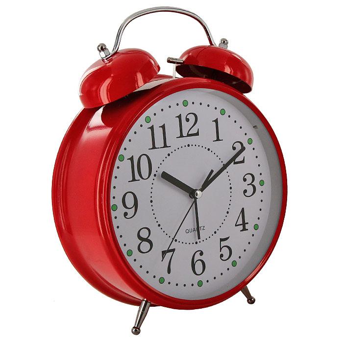 Часы-будильник Гигант, цвет: красный, с подсветкой92266Каждое утро вы боитесь проспать? Будьте абсолютно уверены в том, что с таким будильником вам точно не удастся снова уснуть! Теперь вы сможете просыпаться утром под звуки стильного классического будильника Гигант. Большого размера будильник украсит вашу комнату и приведет в восхищение друзей. Будильник работает от батареек. На задней панели будильника расположены переключатель включения/выключения механизма и два колесика для настройки текущего времени и времени звонка будильника. Будильник также оснащен подсветкой циферблата. Характеристики: Размер будильника:22 см х 30,5 см х 8 см. Диаметр циферблата: 19,5 см. Материал:пластик, металл, стекло. Размер упаковки:31 см х 24 см х 8,5 см. Производитель:Китай. Артикул: 92266. Необходимо докупить 3 батареи 1,5V типа AA (не входят в комплект).