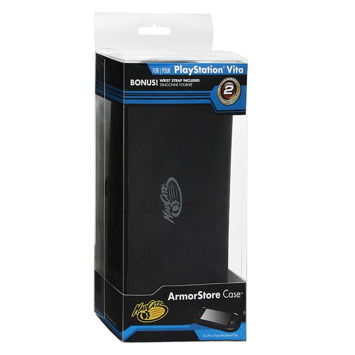 Защитный футляр с силиконовой вставкой для PS Vita (черный)BH-DSL09801Защитный футляр с силиконовой вставкой для PS Vita - это надежная защита вашей консоли от повреждений и царапин. Складная крышка футляра обеспечивает быстрый доступ к консоли. Легкий и простой в использовании футляр имеет 6 отделений для хранения игр.