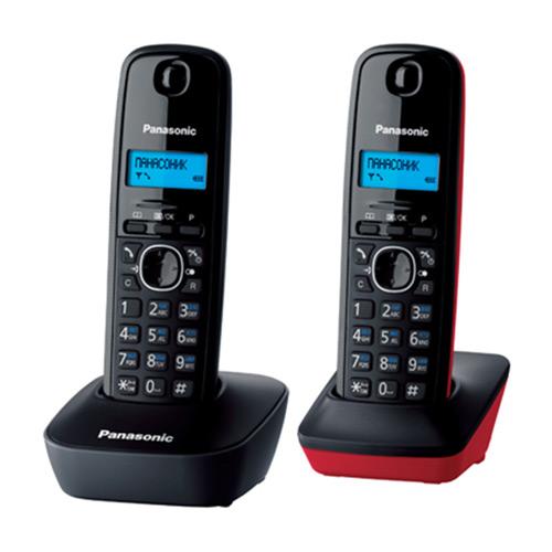 Panasonic KX-TG1612 RU3KX-TG1612 RU3DECT телефон Panasonic KX-TG1612 с дополнительной трубкой.