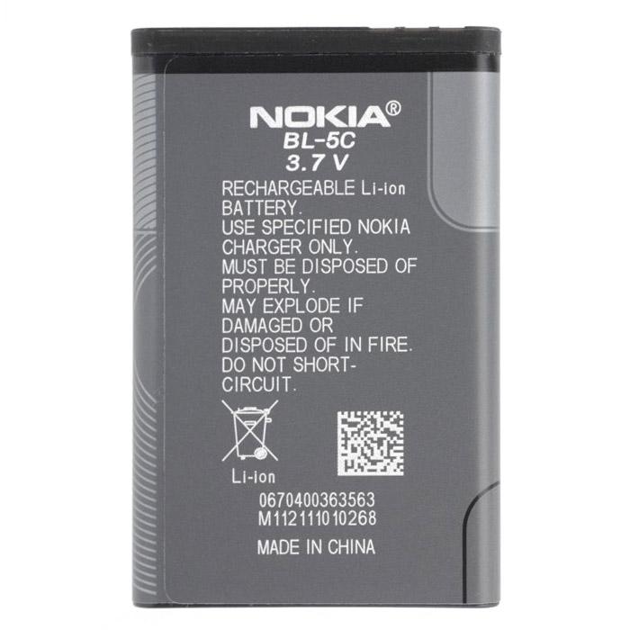 АКБ Nokia BL-5C874004Y0096Аккумулятор BL-5C для телефонов Nokia.