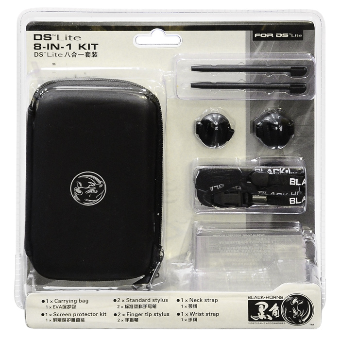 Набор 8 в 1 для приставки DS Lite (черный)