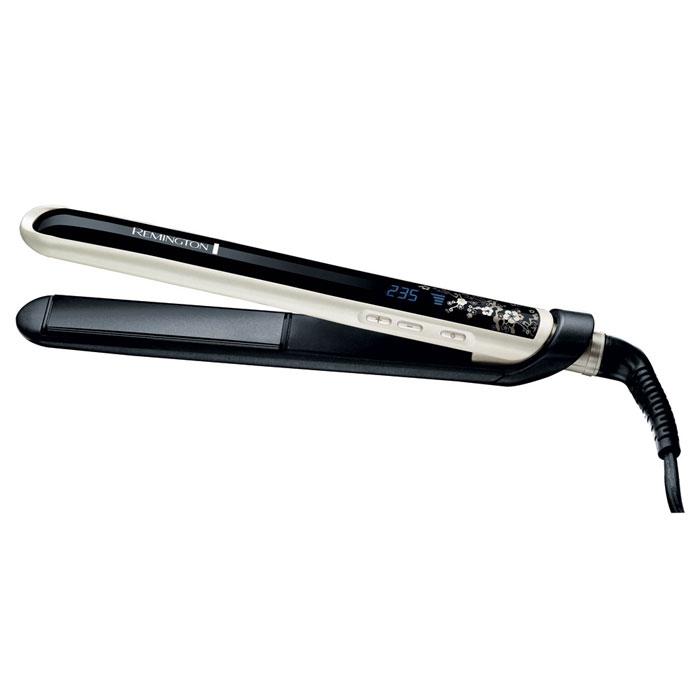 Remington S9500 E51 PearlS9500 E51 Pea rl (Straightener)Выпрямитель Remington S9500 E51 Pearl.Передовая технология объединила традиционное керамическое покрытие с сиянием жемчуга, чтобы создать великолепный выпрямитель для Ваших волос!Самый горячийМы знаем, что Вам нравится выбирать самостоятельно температуру нагрева Вашего выпрямителя. Пожалуйста! Выберите оптимально комфортную температуру из диапазона150-235°C - это самое горячее предложени на рынке.Самый быстрыйНаш выпрямитель готов к работе уже через 10 секунд после включения. Только включите его и он уже готов служить Вашим волосам!Самый гладкий Плавающие пластины с усовершенствованной керамикой и жемчужным покрытием подарят Вашим волосам жемчужное сияние. Пластины скользят по волосам, бережно выпрямляя их. Только легкие гладкие волосы высшего качества.Коллекция Pearl StylingВ коллекции Pearl представлены все инструменты, необходимые вам для того, чтобы сделать стильную укладку, отвечающую последним тенденциям моды. Роскошный выпрямитель для волос, щипцы для завивки и фен, воплотившие в себе драгоценную силу жемчуга в сочетании с технологией Advanced Ceramic, позволят вам создавать безупречные сияющие локоны. Инструменты из коллекции Pearl позволят сделать укладку на профессиональном уровне и достичь блестящих результатов.Надежность и долговечностьСодержание керамики в уникальном усовершенствованном керамическом покрытии с частицами настоящего жемчуга компании Remington в 15 раз больше, чем в обычных покрытиях, что делает данное покрытие на 85% прочнее. Это означает, что даже по прошествии 5 лет наши инструменты остаются как новые!Усовершенствованная керамика с жемчужным. покрытием: В 8 раз более гладкое покрытие, в 5 раз более долговечные пластиныЖК дисплей, цифровой контроль температуры 150°C-235°CБыстрый нагрев – готовность к работе через 10 секундПлавающие пластины с удлиненной базой до 110 ммТермостойкий чехол и подложкаБлокировка кнопки нагрева – предотвращение случайного изменения температурыФункция Heat