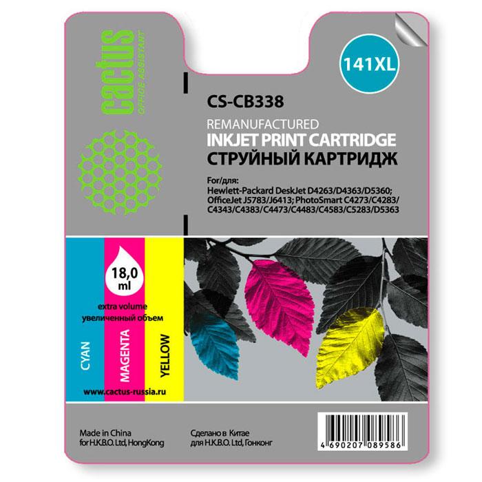 Cactus CS-CB338 №141 XL multicolor для HPCS-CB338Картридж Cactus №141 для струйных принтеров HP.