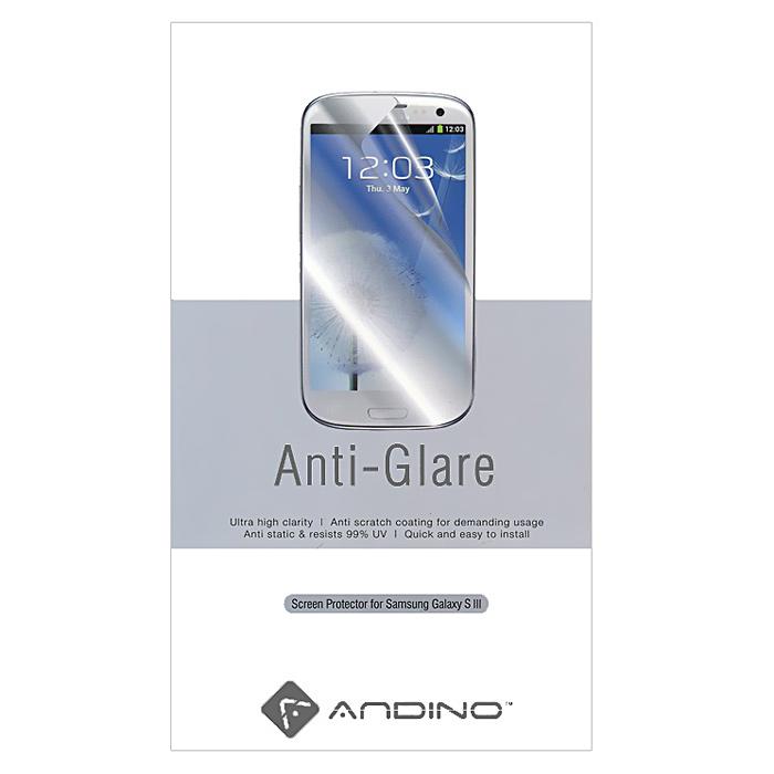 Andino защитная пленка для Samsung Galaxy S III, матовая0L-00028845Защитная пленка Andino защитит Ваш смартфон Samsung Galaxy S III от пыли, грязи и царапин.