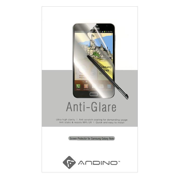 Andino защитная пленка для Samsung Note, матовая80642Защитная пленка Andino защитит Ваш смартфон Samsung Galaxy Note от пыли, грязи и царапин.