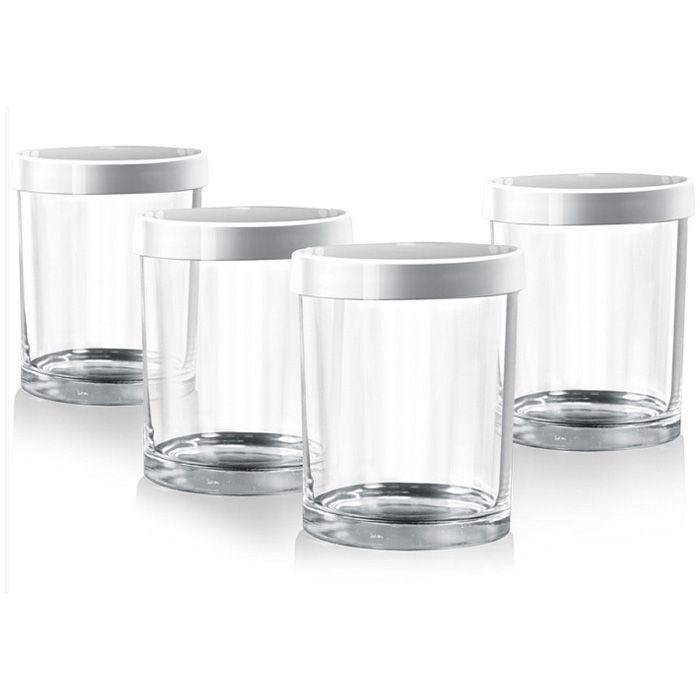 Redmond RAM-G1 комплект банок для йогуртаRAM-G1, 4 баночкиБаночки предназначены для использования во всех типах йогуртниц. Стеклянные баночки сохраняют натуральные свойства домашнего йогурта. С помощью маркера даты можно указывать дату изготовления йогурта или срок его хранения. Диаметр банки (по верхнему краю): 7 см.Высота банки (без крышки): 8,4 см.