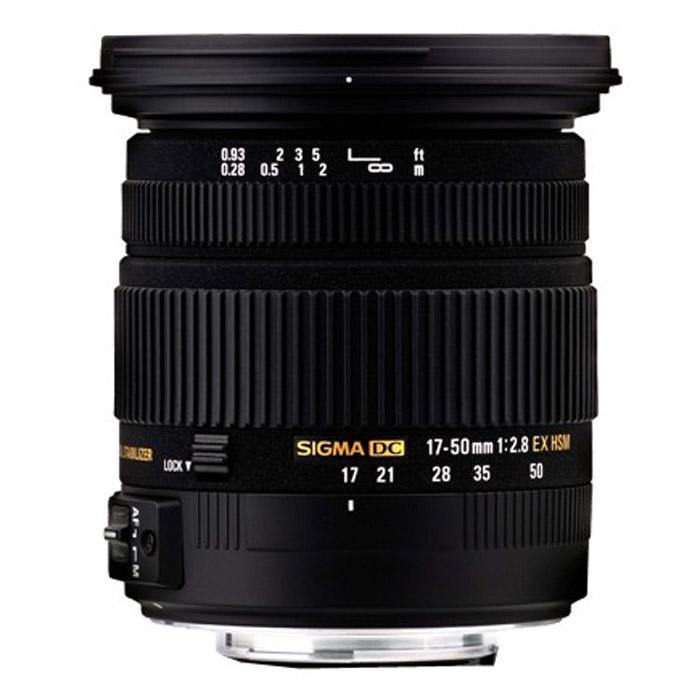 Sigma AF 17-50mm F2.8 EX DC OS HSM, CanonA17NОбъектив Sigma AF 17-50mm f/2.8 EX DC OS HSM.Используемые технологии:EX - Высококачественная и надежная оптика Sigma.DC - Компактные и легкие объективы для цифровых камер.OS - Оптический стабилизатор нейтрализует вибрации камеры без съемки и увеличивает возможности фотографа.HSM - Ультразвуковой моторный привод (Hyper Sonic Motor) обеспечивает быструю и бесшумную фокусировку.