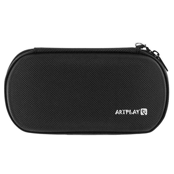 Защитная сумка ARTPLAYS EVA Pouch Fiber для PSP E1008 Street/3000 (цвет: черный)PSP2000-Y002Надежная, компактная и вместительная защитная сумка для PSP E1008 Street/3000. Чехол выполнен из ЕВА-материала и обтянут тканью.Отлично сшита, швы занимают минимум местаИмеет отделения для PSP, UMD-дисков и других аксессуаров