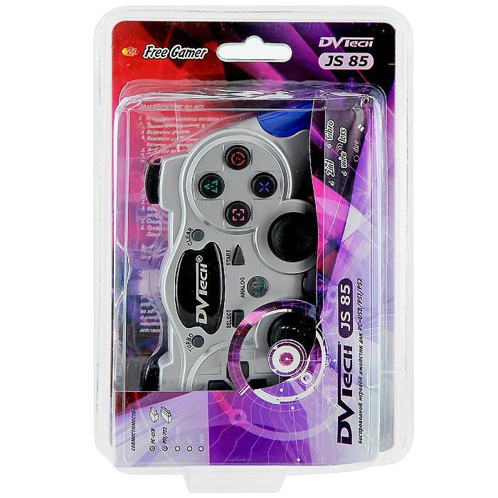 Беспроводной джойстик DVTech JS85 Free Gamer для PC/PS1/PS2