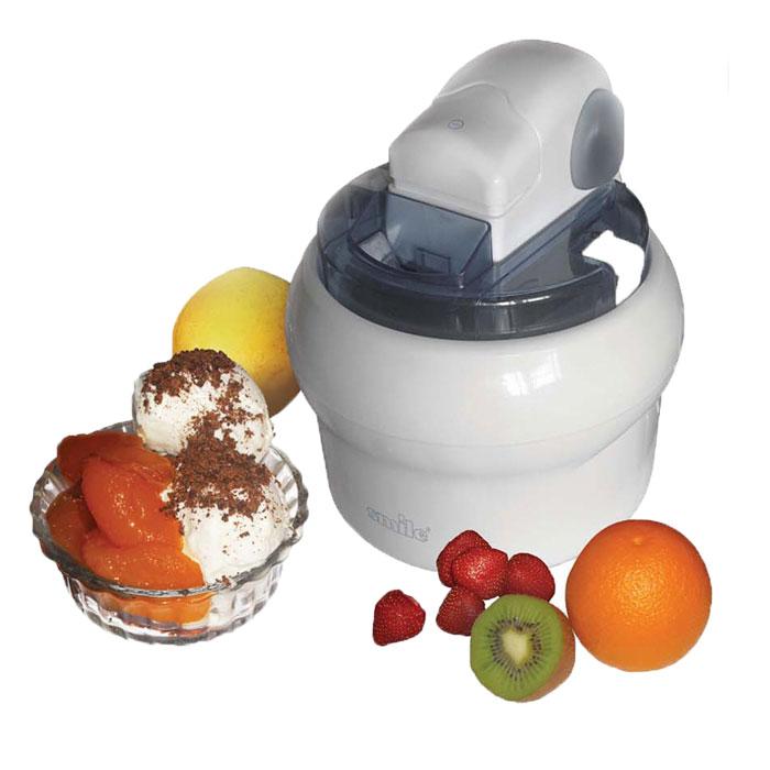 Smile ICM 1155 прибор для приготовления мороженогоICM 1155Прибор для приготовления мороженого Smile ICM 1155.Мороженое, приготовленное в домашних условиях, намного вкуснее и полезнее покупного. Оно не содержит вредных наполнителей и прекрасно подходит для детей!Порадуйте себя мороженым любого вкуса, мороженым щербетом собственного приготовления и замороженным йогуртом. Это вкусно и полезно!