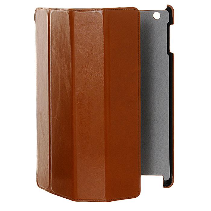 Melkco Slim Cover для new iPad, Light Brown