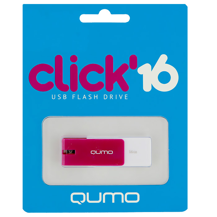 QUMO Click 16GB, VioletQM16GUD-CLK-VioletQUMO Click - это запоминающее устройство, использующее в качестве носителя флеш-память и подключаемое к компьютеру или иному считывающему устройству по интерфейсу USB.