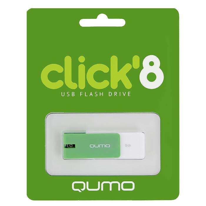 QUMO Click 8GB, MintQM8GUD-CLK-MintQUMO Click - это запоминающее устройство, использующее в качестве носителя флеш-память и подключаемое к компьютеру или иному считывающему устройству по интерфейсу USB.
