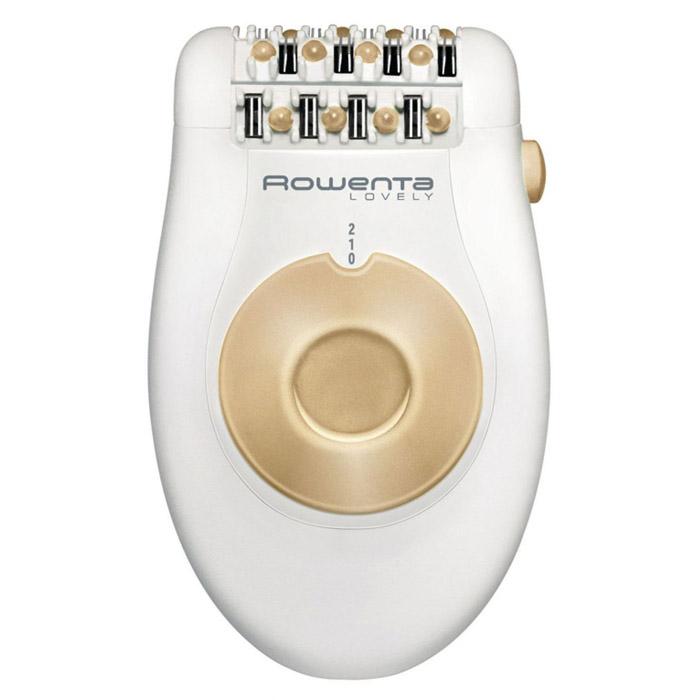 Rowenta EP4321 Эпилятор LovelyEP4321D6Эпилятор Rowenta Lovely EP 4321 один из самых доступных и простых в обращении для своего класса. В нем нет лишних насадок, увеличивающих стоимость и применяемых не так уж и часто. Зато массажер, бритвенная насадка и насадка для пилинга сохранены, поскольку по опросам, проведенным независимой комиссией, они наиболее полезны и популярны. Бритвенная головка особенно необходима для использования в особо чувствительных зонах.Кроме того в Rowenta EP 4321 есть возможность снять эпиляционную головку без особых трудностей и усилий и промыть водой. Это обеспечивает быстроту и тщательность очистки по сравнению со многими другими моделями в этой категории, которые приходится утомительно собирать и разбирать, иногда даже по нескольку раз во время применения, для того чтобы достигнуть желаемого результата и оставить мощность прибора на высоком уровне.Массажные шарики отлично подходят для подготовки кожи и лучшего захвата пинцетов. Сами пинцеты выполнены по уникальной, патентованной технологии и имеют форму буквы Y, все стенки пинцетов выполнены из высококачественного металла. Все это в совокупности обеспечивает чистую и гладкую эпиляцию, волосы удаляются полностью, щипцы не пропускают маленькие волоски.Согласно современным стандартам Rowenta Lovely EP 4321 имеет два скоростных режима эпиляции, дающие возможность в зависимости от задач увеличивать скорость. К комплекту прилагается стильная и удобная сумочка для хранения и переноски, предохраняющая от особо агрессивных воздействий окружающей среды.