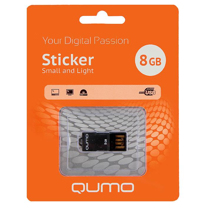 QUMO Sticker 8GB, Black