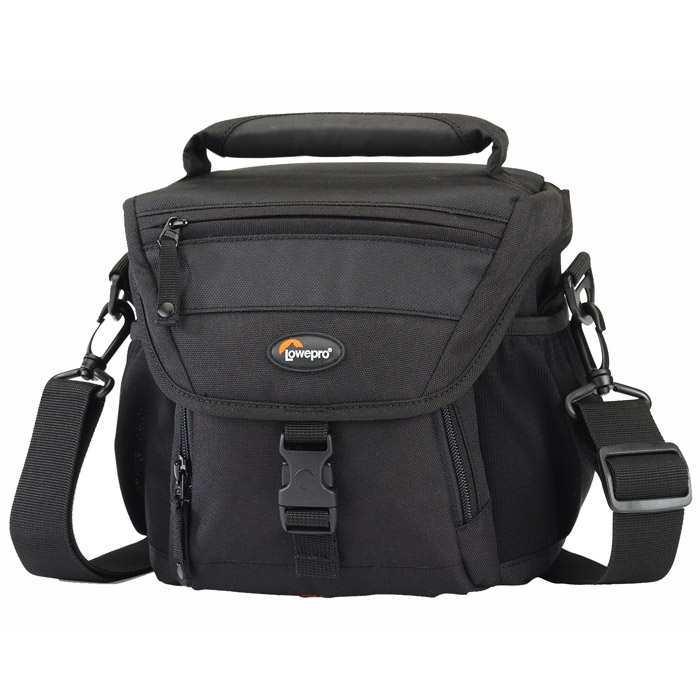 Lowepro Nova 140 AW, BlackNova 140 AW черныйКомпактная сумка Lowepro Nova 140 AW предназначена для удобной переноски цифровой зеркальной фотокамеры, сменных объёктивов, карт памяти и прочих аксессуаров. Всепогодный защитный чехол предохраняет сумку и её содержимое во время работы в сложных погодных условиях. Сумку можно закрепить на поясе или носить в руке или на плече.