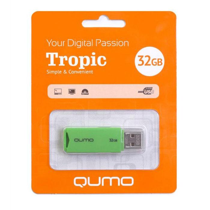 QUMO Tropic 32GB, GreenQM32GUD-TRP-GreenQUMO Tropic — это стильная флэшка, а также удобный помощник в хранении и переносе данных. Вы сможете легко хранить, систематизировать и делиться с друзьями своими фотографиями.