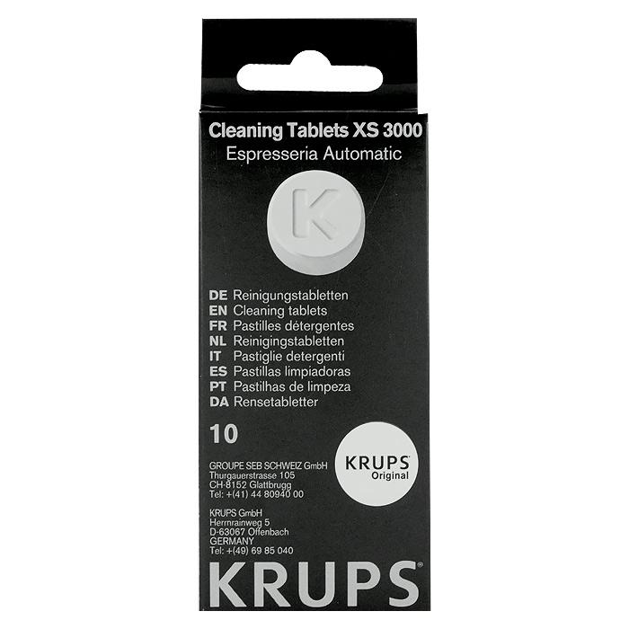Krups XS3000 Чистящее средствоXS300010Krups XS300010 средство от накипи для кофеварки в таблетках. Эффективно удаляет следы извести и пригоревшего кофе