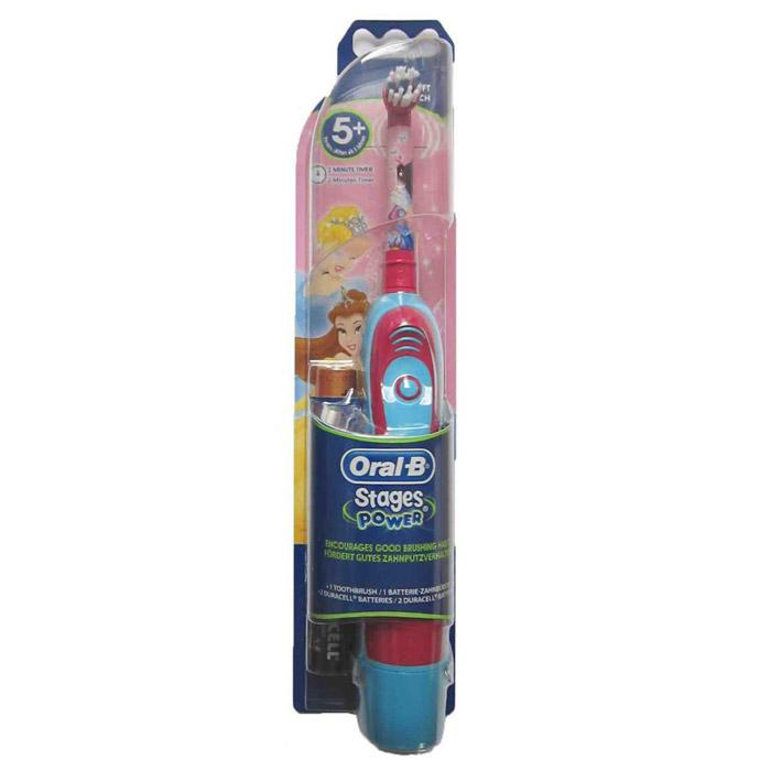 Braun Oral-B Stages Power DB4.010 детская электрическая зубная щеткаDB4010(DB4.510)_белоснежкаДетская электрическая зубная щетка Braun DB4010 (DB4.510) обладает очень мягкими, расщепленными на концах щетинками, которые гарантируют очень бережную чистку зубов ребенка, а также массаж его нежных десен.Индикатор заряда батареи:Детская электрическая зубная щетка Braun Disney Princess DB4010 (DB4.510) оснащена удобным световым индикатором заряда батареи. Таким образом, Вы всегда будете знать, когда нужно поставить прибор на подзарядку.Специальный дизайн:Детская электрическая зубная щетка Braun Disney Princess DB4010 (DB4.510) выполнена в специальном красочном дизайне, который невероятно привлекателен для каждого современного ребенка.