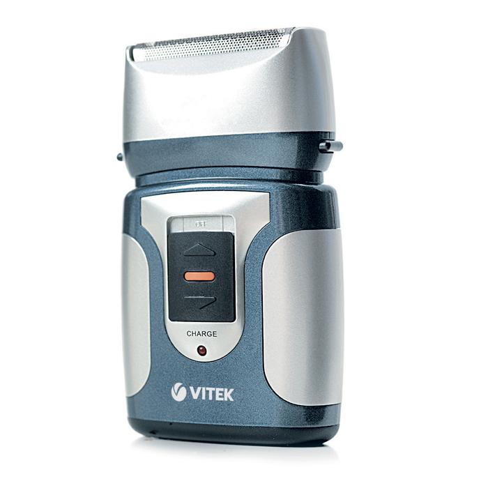 Vitek VT-1372, Blue электробритва1372-VT-01Вам приходится часто путешествовать, но при этом есть желание безукоризненно выглядеть? Что ж, в этом случае электрическая бритва Vitek VT-1372 станет для вас великолепным спутником во всех ваших путешествиях. Две бритвенные головки удивительно качественно срезают любые волосинки, даже самые небольшие. Функция дорожной блокировки полностью исключает возможность включения бритвы в дороге, что очень удобно и безопасно. Стоит сказать и о том, что электрическая бритва VITEK 1372 может использоваться не только сухом бритье, но и при влажном. Бритва снабжена водонепроницаемым корпусом.