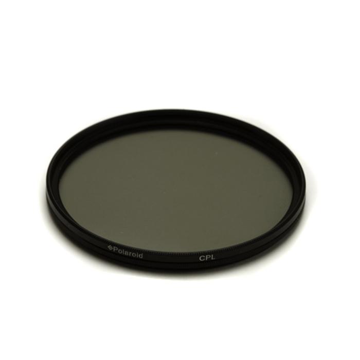 Polaroid CPL 72mmPLFILCPL72Циркулярный поляризационный фильтр Polaroid CPL предназначен для уменьшения бликов и отражений от воды и других поверхностей, усиливает цвета, а также уменьшает контраст между небом и землей. Поляризационный фильтр сокращает количество света, попадающего на матрицу фотоаппарата на 1-3 ступени.