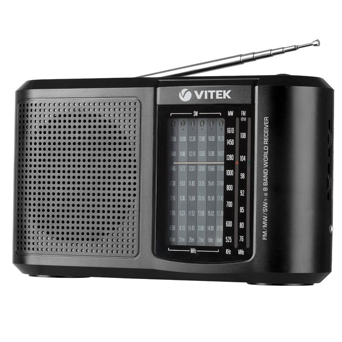 Vitek VT-3590, Black - Магнитолы, радиоприемники