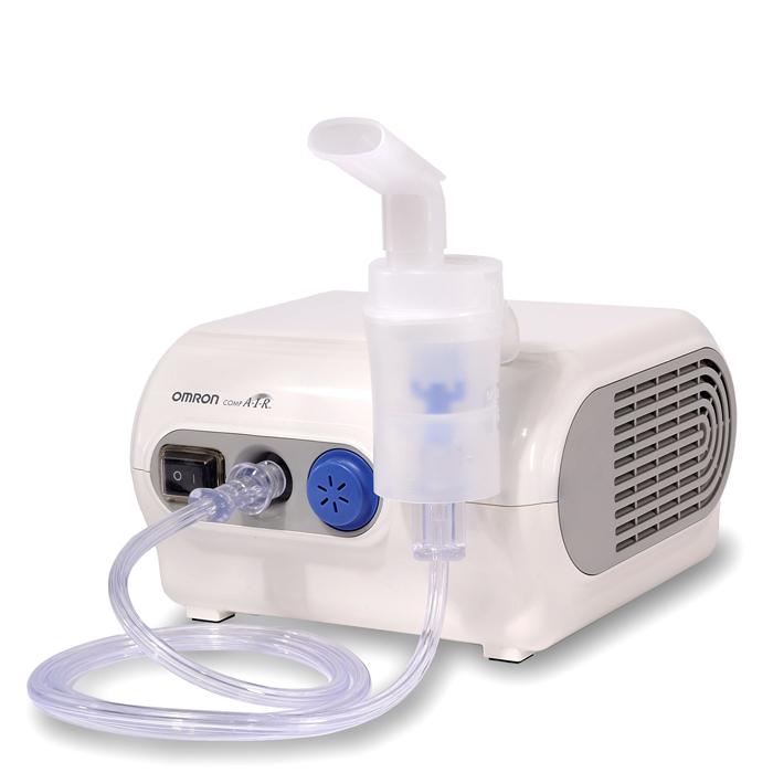 Omron Comp Air NE-C28-RU небулайзер компрессорный000 000 00031Ингалятор Omron Comp Air NE-C28-RU комплектуется небулайзерной камерой CompAIR,в основе которой лежит технология виртуальных клапанов (Virtual Valve Technology – V.V.T.).Его заметные плюсы это: простота подготовки и легкость проведения ингаляции в режиме естественного дыхания, экономное использование лекарства.