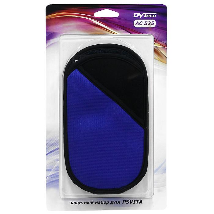 Защитный набор DVTech AC 525 для PS VitaAC 525Мягкий чехол - практичный и стильный аксессуар, обеспечивает сохранность игровой системы PS Vita от царапин, внешних повреждений и загрязнений. Особенность этого чехла - наличие внешнего кармана закрывающегося на молнию, что позволяет хранить мелкие аксессуары. Защитные пленки эффективно предохраняют сенсорные поверхности консоли от мелких повреждений, загрязнений, отпечатков пальцев и пыли. Имеют матовое антибликовое покрытие, без снижения качества цветопередачи, четкости изображения и отклика.Пленки изготовленыиз высококачественного ПЭТ-материала, с применением современных технологий.