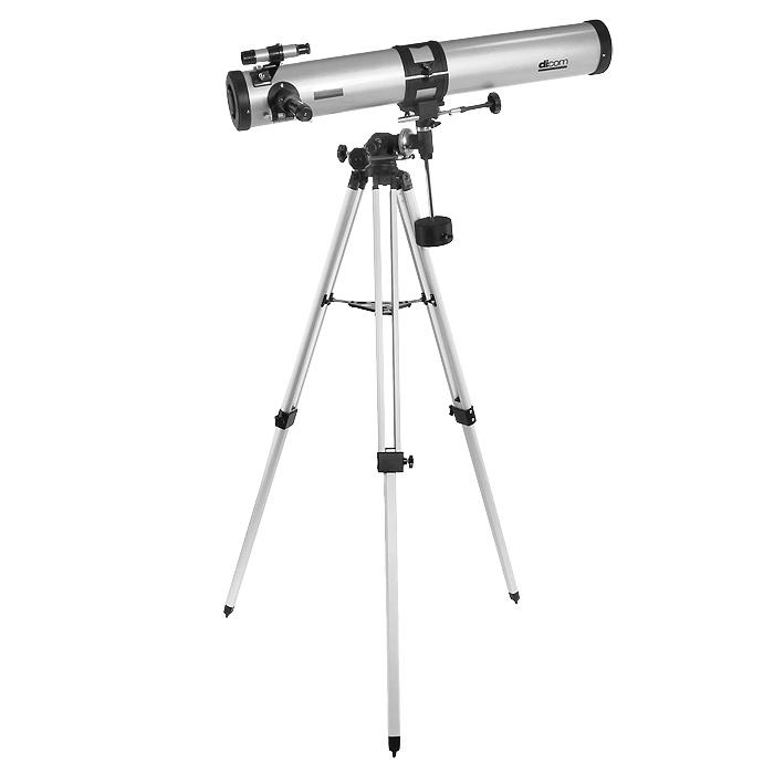 Dicom A90076-EQ1 Asteroid телескопA900x76 EQ-1Телескоп Asteroid A90076-EQ1 - это линзовый телескоп-рефлектор на экваториальной монтировке. Предназначен для астрономических исследований, но поставляется с оборачивающим окуляром 1,5х, предназначенным и для дневных наземных наблюдений. Он разворачивает изображение, после чего оно становится правильно ориентированным (при использовании диагонального зеркала изображение остается зеркально отраженным).