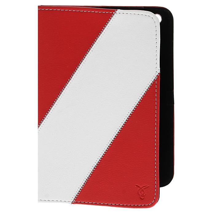 Vivacase Fantasy кожаный чехол-обложка для iPad Mini, Red WhiteVAP-AMF002-R-WhЧехол-обложка из искусственной кожи Viva Fantasy для iPad mini надёжно защищает гаджет от пыли и царапин. Данный чехол выполнен в различных цветовых решениях. Внутри есть надежные захваты, а деталь чехла, соприкасающаяся с экраном девайса, обладает мягкой поверхностью, обеспечивающей деликатный уход за экраном.