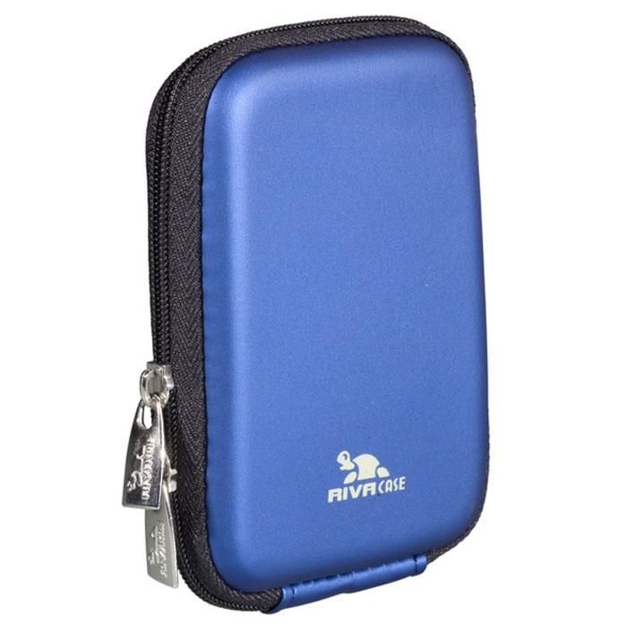 Riva 7062 (PU) Digital Case, Light Blue чехол для фотокамеры2594Стильный чехол Riva 7062 (PU) Digital Case подходит для большинства популярных моделей компактных фотокамер.Он изготовлен из высококачественного, ударопрочного, водонепроницаемого материала EVA, а внутренняя защита - из плотного и мягкого нейлона. Внутренний карман служит для хранения карт памяти или аксессуаров.Для удобства предусмотрена также возможность крепления на поясном ремне.