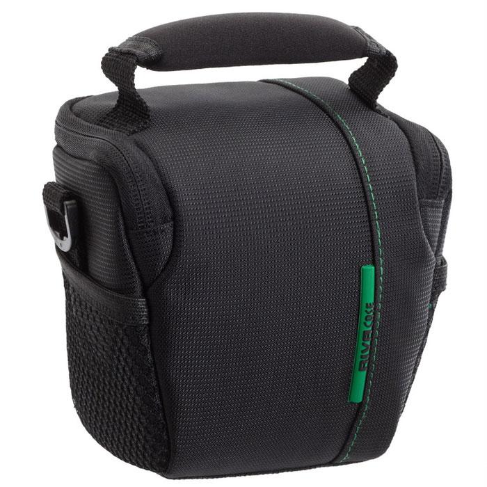 Riva 7410 Digital Camera Bag, Black сумка для фотокамеры6466Высококачественная сумка Riva 7410 Digital Camera Bag для камер формата High/Ultra zoom и компактных фотокамер со сменной оптикой (Sony Nex-3/Nex-5 Kit). Верхний откидной клапан закрывается на застежку «молния», и обеспечивает быстрый доступ к фотокамере. Для переноски предусмотрены регулируемый наплечный ремень и удобная ручка.
