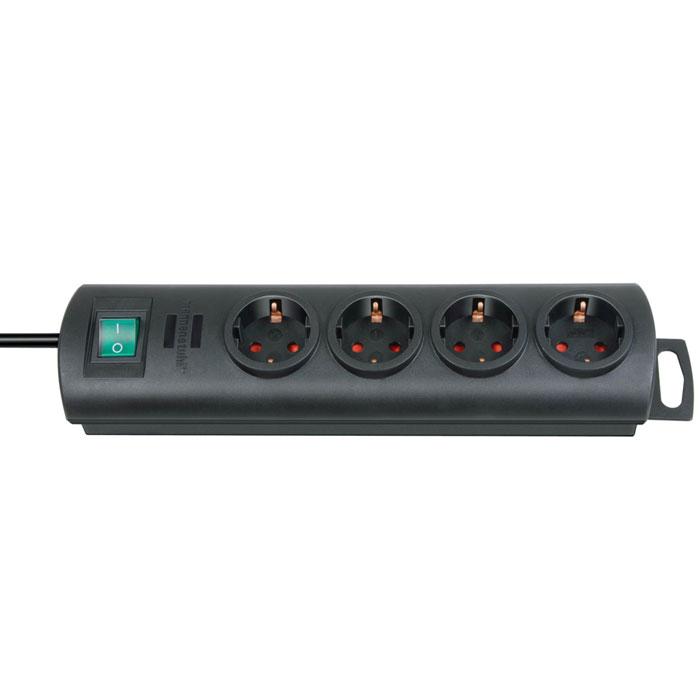 Brennenstuhl Primera-Line удлинитель на 4 розетки, Black1153300124Удлинитель на 4 розетки Brennenstuhl Primera-Line с возможностью выводить кабель с разных сторон устройства.Кабельный зажим для хранения излишков кабеляУдобное расстояние между розеткамиВозможность настенного монтажаРозетки защищены от детейДвухполюсный выключательТип кабеля: H05VV-F 3G1,5