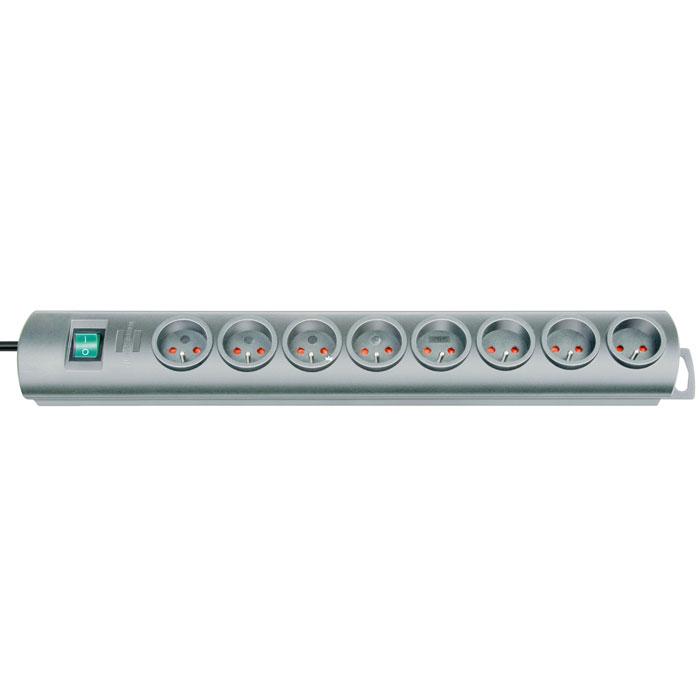 Brennenstuhl Primera-Line удлинитель на 8 розеток, Silver
