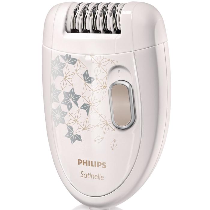 Philips HP6423/00 эпиляторHP6423/00Эпилятор Philips HP6423/00 Satinelle сделает вашу кожу идеально гладкой надолго.Безболезненно удаляет волоски длиной от 0,5 мм с корнем. Гладкость кожи на срокдо четырех недель.Бритвенная головка: Бритвенная головка повторяет контуры линии бикини и подмышек для более гладкого бритья. Насадка-гребень: Перед эпиляцией или бикини-дизайном подровняйте волоски с помощью насадки-гребня, установив ее на бритвенную головку. Эпилирующие диски для бережной эпиляции: Эпилирующие диски для бережной эпиляции удаляют волосы без неприятных ощущений на коже. Уникальные эпилирующие диски: Уникальные эпилирующие диски удаляют волоски длиной от 0,5 мм. Два режима скорости: Дополнительный режим скорости для удаления тонких волосков на труднодоступных участках тела. Эпилирующую головку можно мыть: Простота очистки и гигиеничность: головку можно снять и промыть под струей воды.Щеточка для очистки: Маленькая щеточка для удаления волос из эпилирующих дисков.Эргономичный дизайн: Эргономичная закругленная форма обеспечивает удобство во время использования прибора.