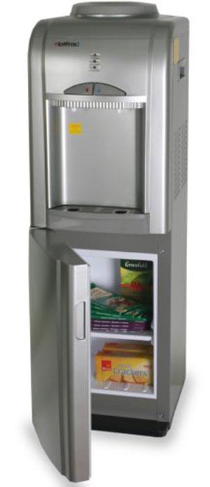HotFrost V802CES кулер для воды922Напольный кулер HotFrost V802CЕ -прекрасный выбор для дома. Его гармоничный дизайн легко впишется в интерьер кухни современной хозяйки. Эта модель выполнена с использованием экологически чистых материалови отличается экономичностью потребления электроэнергии, а также эффективной системой нагрева (95°C) и охлаждения воды (10°C). Кроме того, в кулере V802CЕ есть шкафчик для хранения продуктов на 14 литров.Нагревательный элемент бачка горячей воды не контактирует с водой. Расширенная трубка выхода горячей воды в бачке горячей воды позволяет увеличить скорость наполнения до 1,8 литра в минуту. Дополнительная трубка облегчает санообработку бака горячей воды. Бачок холодной воды повышенного объема и производительности имеет защиту от протекания. Кулер оборудован дополнительной защитой от повреждений решетки конденсатора снизу. Снимающаяся уплотнительная резинка на дверке шкафчика обеспечивает удобную чистку внутренних поверхностей шкафчика.Вода: горячая / холоднаяШкафчик: 14 лСъемный лоток для сбора капельИндикатор охлаждения/нагреваМатериал бака горячей воды: нержавеющая стальЭнергопотребление: 1.2 кВт*ч в суткиКнопка подачи горячей воды с функцией Защита от детей