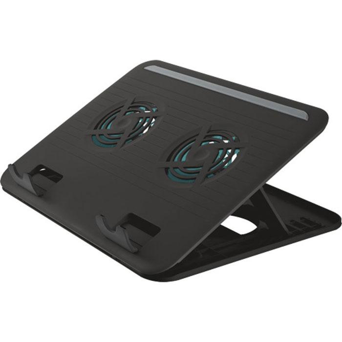 Trust Cyclone Notebook Cooling Stand охлаждающая подставка для ноутбука17866Подставка для ноутбука Trust Cyclone Notebook Cooling Stand со встроенным бесшумным вентилятором для обеспечения удобного положения компьютера и защиты от перегрева.